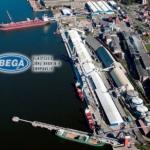 Транспортная обработка грузов в порту Клайпеда.