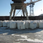 Услуги по перевалке сыпучих грузов в биг-бэгах и мешках на экспорт через порт Туапсе.