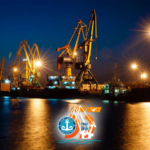 Порт Актау 24 часа в сутки осуществляет перевалку нефти, металла, зерна, товаров народного потребления.