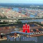 Гамбургский порт, крупнейший морской порт Германии.